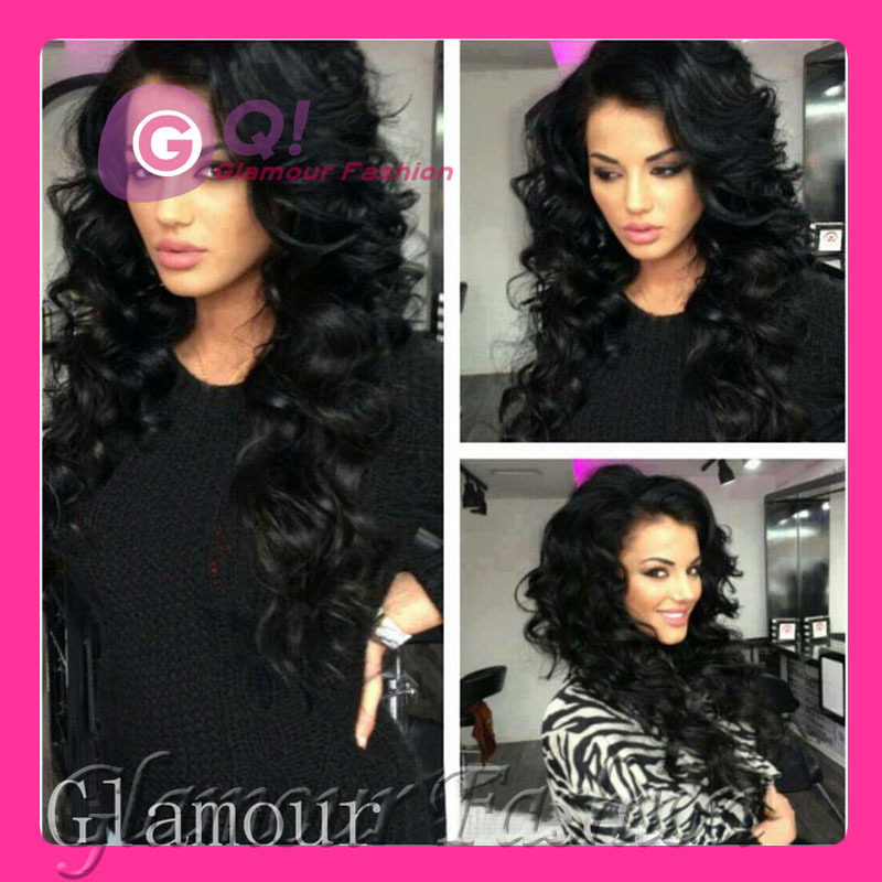 GQ Free bleached knots wig Long Body wave 100% human hair u