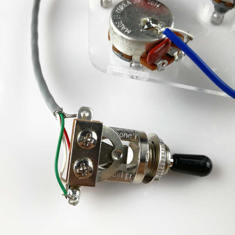 1 takım LP elektro gitar Pickup için kablo demeti EPI SG LP nokta (1 geçiş anahtarı + 4 tencere + Jack)