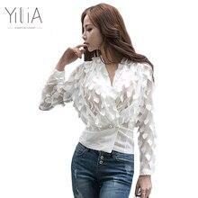 Yilia Spring Autumn font b Women b font Chiffon Blouses font b Shirt b font 2017