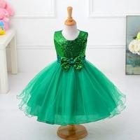 Зеленый Девушки Нарядные платья для Красота маленькие дети принцессы органза Бисер камни пышные бальные платья Цветы Выпускной