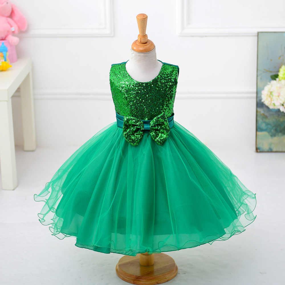 6b38633444c Зеленый Девушки Нарядные платья для Красота маленькие дети принцессы  органза Бисер камни пышные бальные платья Цветы