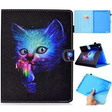 Купить с кэшбэком BannerLive TPU Case for Apple iPad 2 3 4 Cover iPad2 iPad3 iPad4 Funda Coque Paint Cat Panda Tree Butterfly Bookshelf