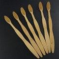 Wholeasle venta caliente 6 Unids/lote Cuidado Oral Cerda Suave cepillo de dientes Cepillo De Dientes De Bambú respetuoso del medio ambiente de madera