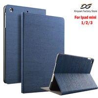 Case For IPad Mini 1 Mini 2 Mini 3 Wooden PU Leathe Folio Smart Case Stand