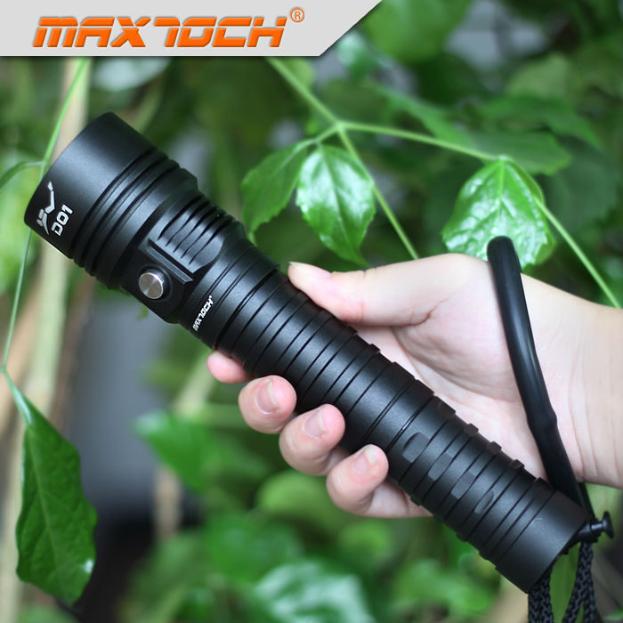 MAXTOCH D01 2500lm XHP50 2 LED Flood Beam Long Runtime Dive Torch DO1 Waterproof Diving No