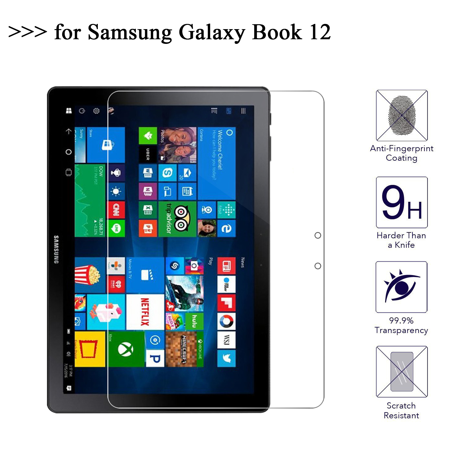 Screen Protector For Samsung Galaxy Book 12 inch Tempered Glass For Samsung Galaxy Book 12 Tablet Protective FilmScreen Protector For Samsung Galaxy Book 12 inch Tempered Glass For Samsung Galaxy Book 12 Tablet Protective Film