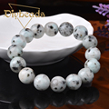 New Fashion Natural Granite Stone Bracelets Lap Ball 12mm Bead Jewelry Pulseras Diybeads