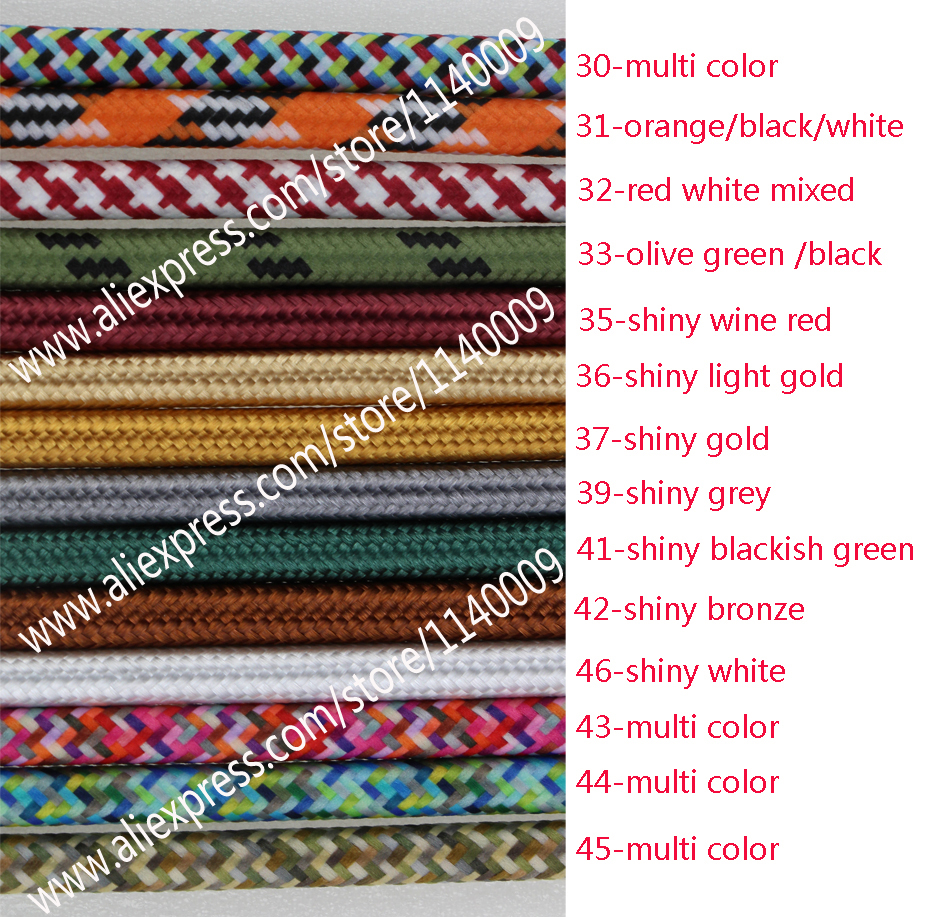 2m3m5m Or 10m Lot Vde Certified 2 Core Round Textile Electrical Household Wiring Colours Wire Color Braided Fabric Cable Vintage Lamp Power Cord In Wires Cables From