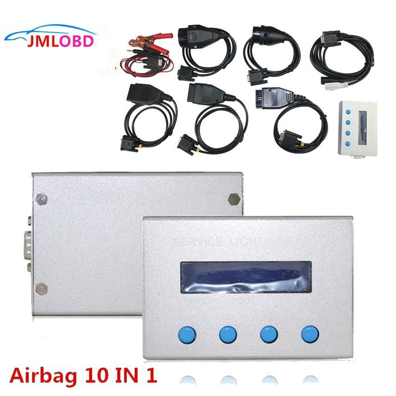 NEW 10 in 1 Airbag Reset Tool and Service Light Oil Reset Tool for Multi brand Cars Mileage Correction Free Shipping
