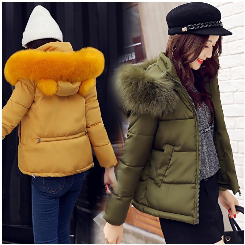 Women Winter Jacket 2019 Girls Cute Short Coat Female Warm Hooded Thick Padded Jacket Outwear   Parkas   women Casaco Feminino G099