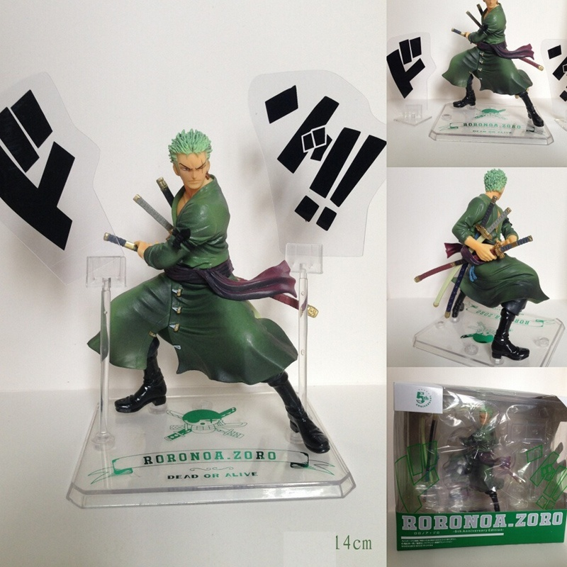 Anime One Piece Roronoa Zoro 5th PVC Action Figure Collectible Model Toy 14cm New in box