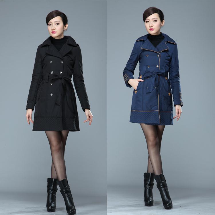 Algodón chaqueta de invierno larga, modelos femeninos