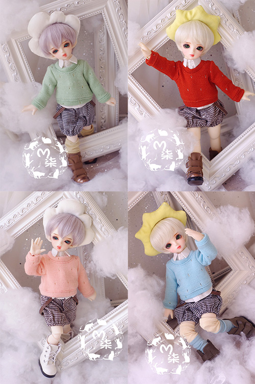 Sweater shirt overalls three-piece For BJD 1/6 Doll Clothes Accessories uncle 1 3 1 4 1 6 doll accessories for bjd sd bjd eyelashes for doll 1 pair tx 03