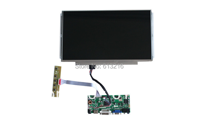 VGA +HDMI+DVI LCD controller board +LP133WH2-TLGA+LVDS cable +OSD keypad with cable for dell xps 9530 l522x m3800 brand new d shell bottom dp n 0d24n5