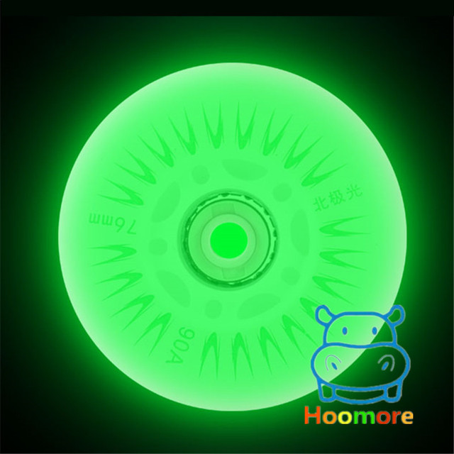 Free Shipping LED Flash Wheel 80mm 76mm 72mm 70mm 68mm 64mm for Inline Skates 90A for Adults Kids SEBA RB Roller Wheels 4