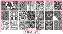 YICAI-28 Nail Art Plate Butterfly Designs Pattern 3D Stamping Image Templates Manicure Stamps 1Pcs 6.5*12.5CM