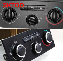 Free shipping for Citroen Triumph air conditioning switch knob aluminum For Peugeot 307