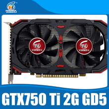 Geforce chipset video card original 100% new GTX750Ti 2048MB GDDR5 128Bit Graphics cards 1020/5400MHz