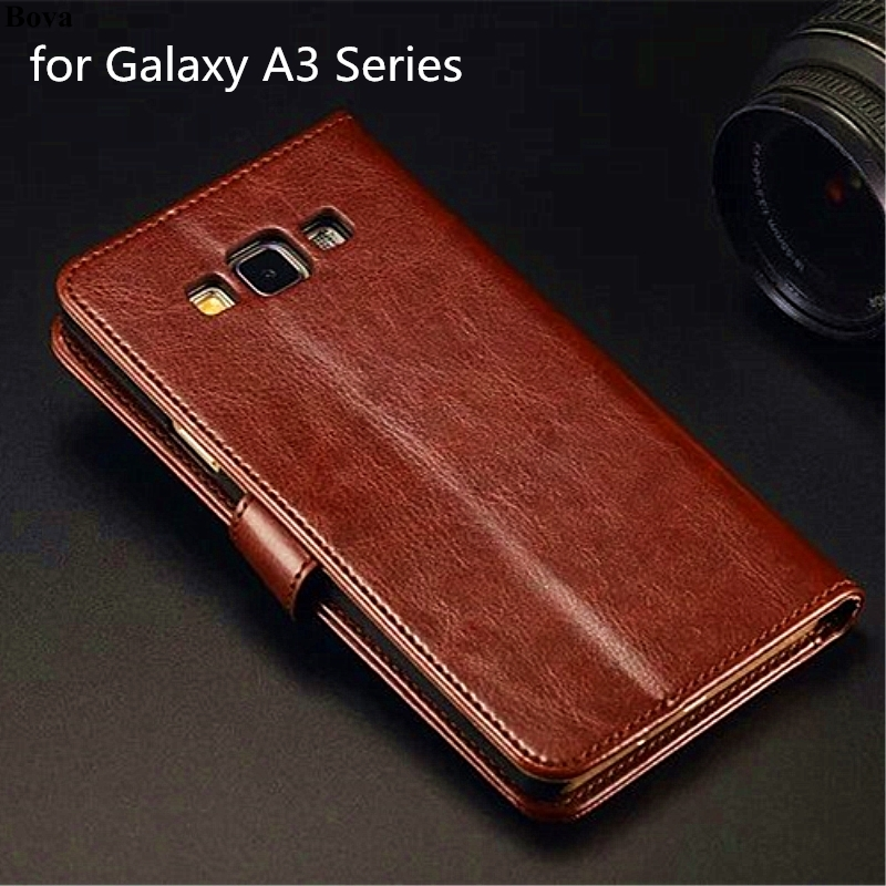 High Quality Magnetic Pu Leather Holster Flip Cover Case for Samsung Galaxy A3 A300F A310F A320F A3 2016 2017 Coque Fundas