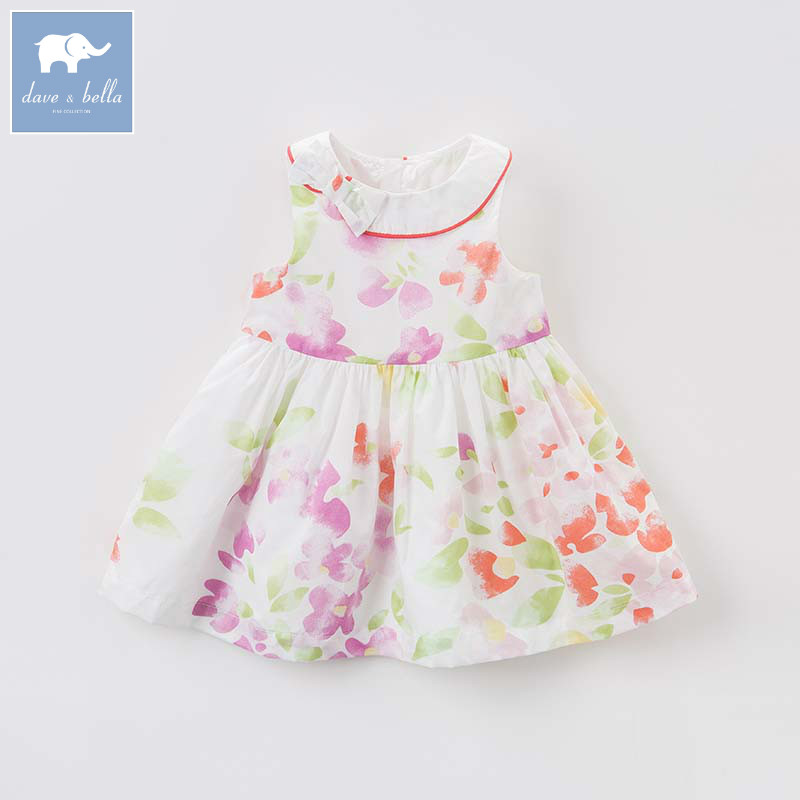Dave bella baby girls floral dress children princess clothing toddler summer party wedding costumes kids gown DBJ7285Dave bella baby girls floral dress children princess clothing toddler summer party wedding costumes kids gown DBJ7285