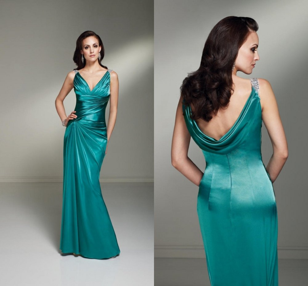 New Arrival Db127 Full Length Beaded Green Satin Cowl Back Women S Wedding Guest Dresses Evening In Bridesmaid From Weddings Events On