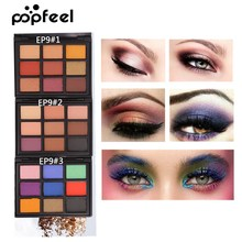 Popfeel 9 Color Shimmer Matte Eyeshadow Palette Long Lasting Eye Nude Makeup Cosmetic Women Beauty Shadow Make Up