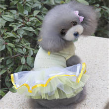 New 2019 Stylish Cotton Gauze Veil Skirt Dress Petal Collar Clothes Pet Clothing Apparel for all dog