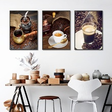 Nordic Coffee Theme Photography Canvas Painting Modern Wall Art   Pictures for Dinning Room Decoration Posters and Prints