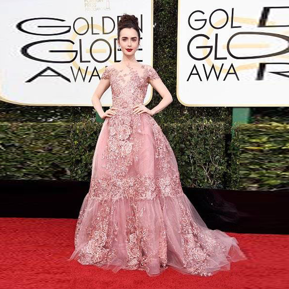 Compare Prices on Lily Collins Red Carpet Dress- Online Shopping ...