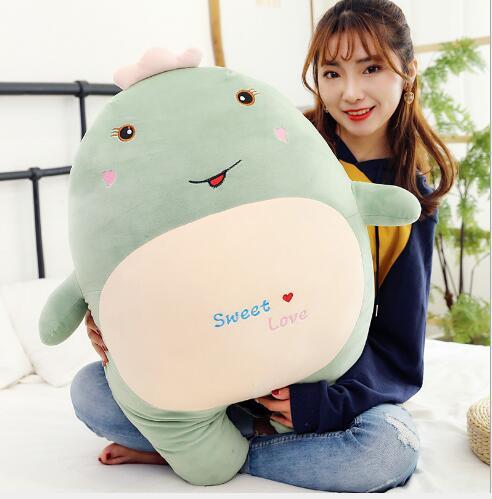 WYZHY  Hug dragon plush toy expression sofa bedroom decoration send friends children gifts 70CM