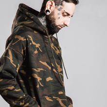 2016 New Real Full Standard None V-neck Acetate Tooling Military Camouflage Hoodies Large Size Hip Hop Jacket