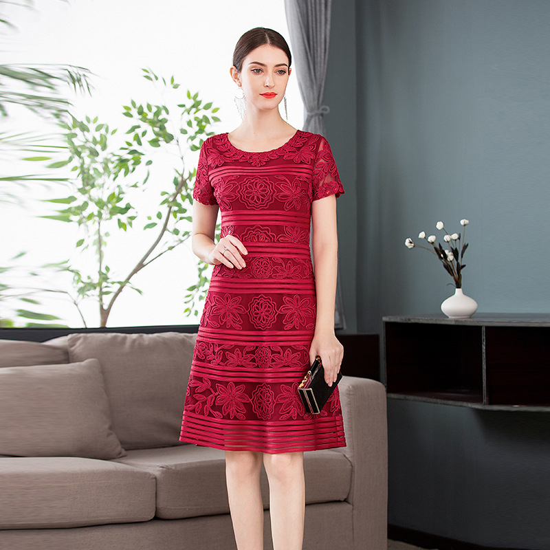 ladies summer office work dress 2019 new hot spring womens Clothing party dress Plus Size 4xl
