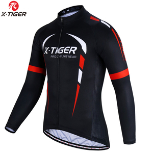 X-Tiger Pro Winter Thermal Fleece Cycling Jersey Long Sleeve MTB Bicycle Clothing Maillot Ropa Ciclismo Invierno Bike Clothes
