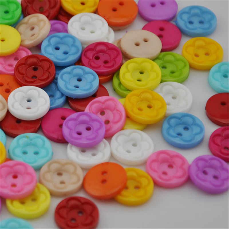 10/50/100ชิ้นผสมสีของเด็กDIYจักรเย็บผ้าa ppliquesหัตถกรรมพลาสติกปุ่มPT21