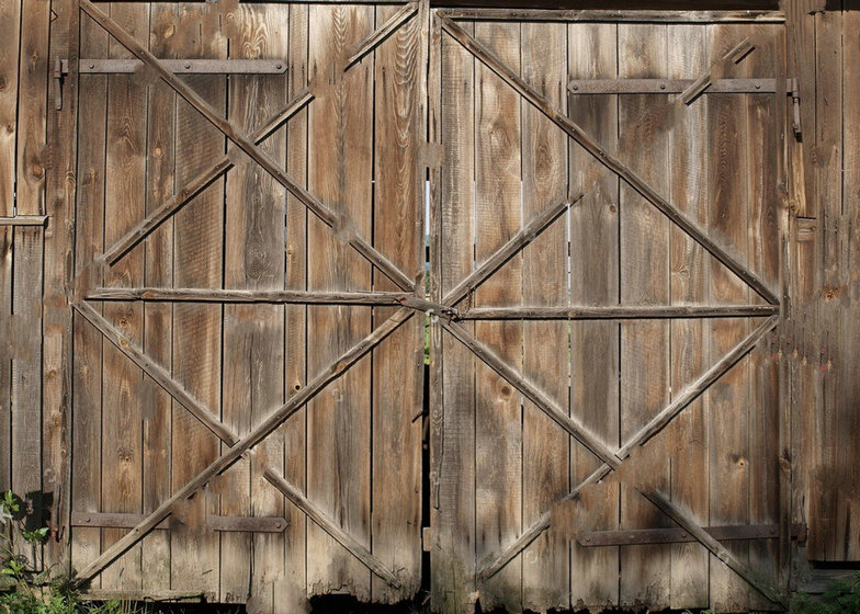 Old Wood rustic barn door Metal Handle photo backdrop Vinyl cloth High quality Computer print wall Backgrounds custom vinyl cloth old letter wall wood