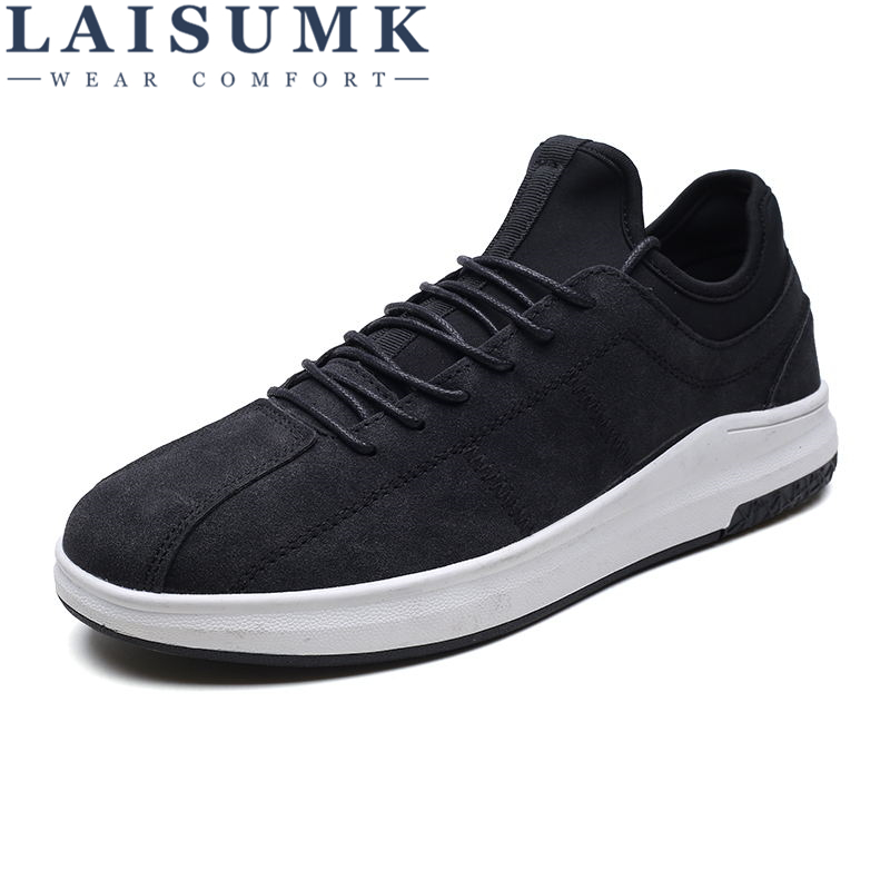 2019 LAISUMK Men Shoes Summer Casual Shoes Breathable Mesh Flat Shoes High Help Walking Flats Height Increasing Sneakers