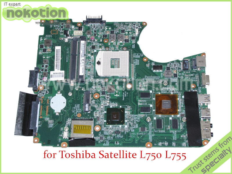 Здесь можно купить  DABLBDMB8E0 A000080820 For toshiba satellite L750 L755 Motherboard HM65 DDR3 GeForce GT525M graphics  Компьютер & сеть