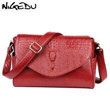 NIGEDU 3D crocodile Women Messenger Bags Fashion Ladies Shoulder Bag