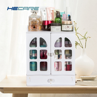 Europe Style Plastic Make Up Storage Organizer Eco friendly Home Jewelry Box Pink and White Storage Container for Cosmetics New