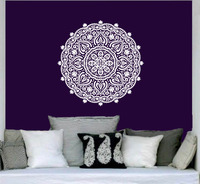 Wall Decal Vinyl Sticker Namaste Om Mandala Ornament Moroccan Pattern Yoga 58X58CM