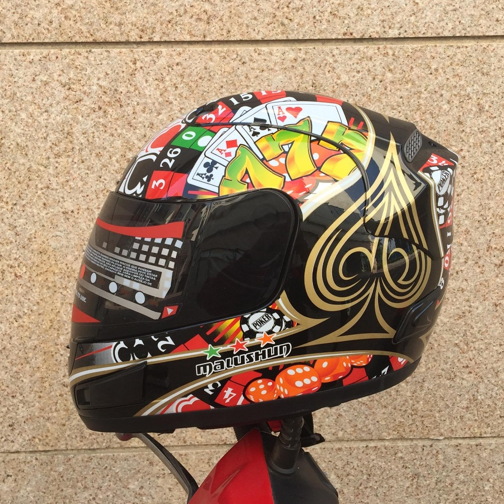 Motorcycle helmet men's and women's four seasons racing anti-fog warm marushin cover all personality locomotive road race(China)