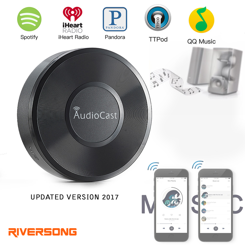 Riversong Wireless AudioCast Airplay DLNA Music Receiver 3.5mm Audio Receiver DLNA Aiplay Wifi Music Adapter pvt 898 5g 2 4g car wifi display dongle receiver airplay mirroring miracast dlna airsharing full hd 1080p hdmi tv sticks 3251