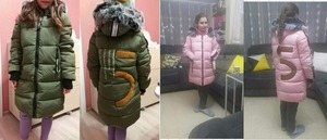 Image 5 - 2019 Girls Russian Winter Long Thickened Warm Cotton Outerwear & Coats Children Hooded Windbreakers Kids Embroidered Jackets  30