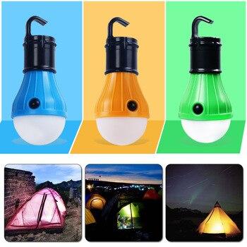 Водонепроницаемый портативный фонарь, лампа для палатки, светодиодная лампа для аварийного ночного освещения, фонарь для кемпинга, пешего ...