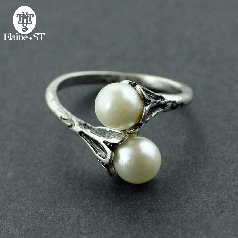 Pearl Rings Game of Thrones Rings for Women Daenerys Targaryen Simulated Pearl Jewelry Vintage Female Ring can Adjustable