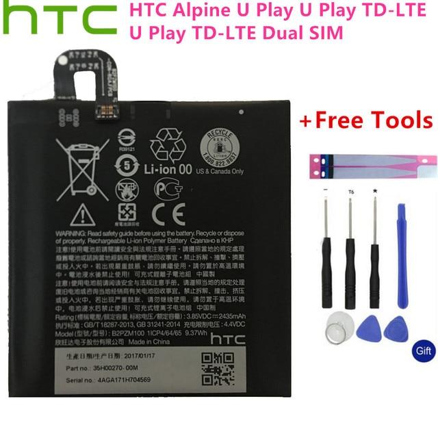 2435 mah B2PZM100 аккумулятор подходит для HTC Alpine, U Play, U Play TD-LTE, U Play TD-LTE батареи с двумя sim-картами аккумулятор + Инструменты + наклейки
