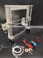 Funssor Update Prusa i3 frame kit With V6 PT100/104GT2 thermistor hotend kit aluminum alloy Anodized silver color