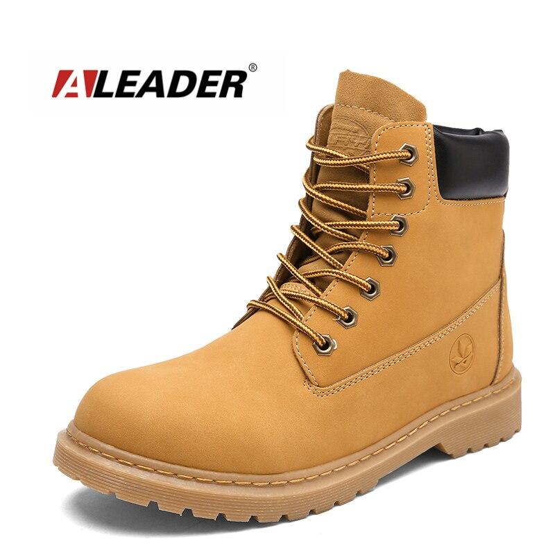 ALEADER nouveau pas cher hommes bottes en bois mode décontracté désert bottes pour hommes noir chaussures de travail à lacets classique amoureux chaussures terre