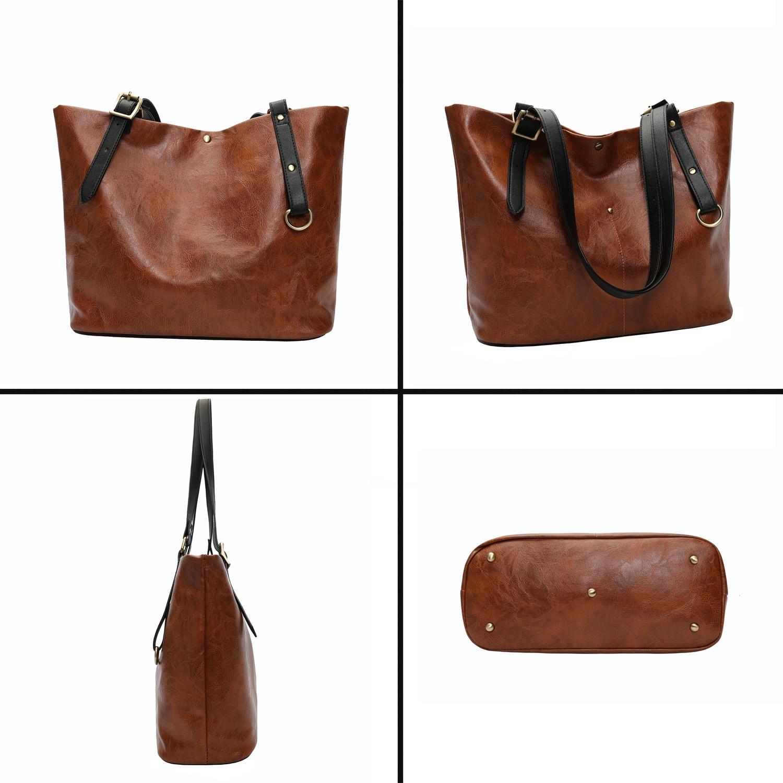 Black brown Lusso A Donne Di Bags Dimensioni Cuoio orange 069 Bags Sd Borse Bags green Del Signore Tote Delle Grandi Bags Large Spalla coffee Top Progettista handle Bags IvRqdTw