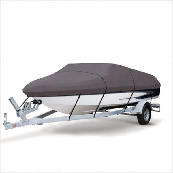 Серый Extra Heavy Duty лодкой на катере крышка 14-16ft Водонепроницаемый РЫБЫ ЛЫЖНАЯ v-образная